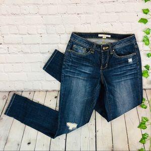 Boston Proper Skinny Distressed Ripped Jeans sz 26